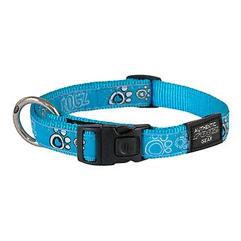 Rogz Fancy Dress Turquoise Paw Design Duurzame Dog Collar