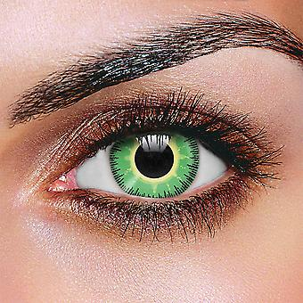 Fusion Green & Yellow Contact Lenses (Pair)