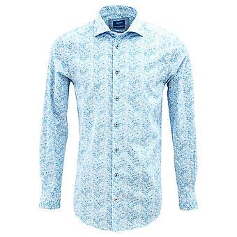 Tresanti Summer Sky Blue Flower Print Mens Shirt
