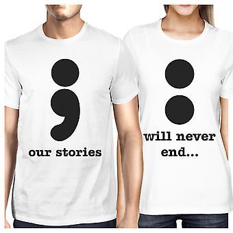 لدينا قصص لن تنتهي ابدأ لطيف الأزواج مطابقة القمصان جولة العنق