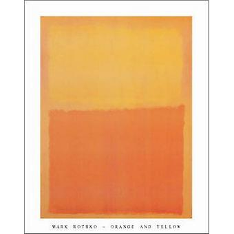 Orange och gula affisch Skriv av Mark Rothko (22 x 28)