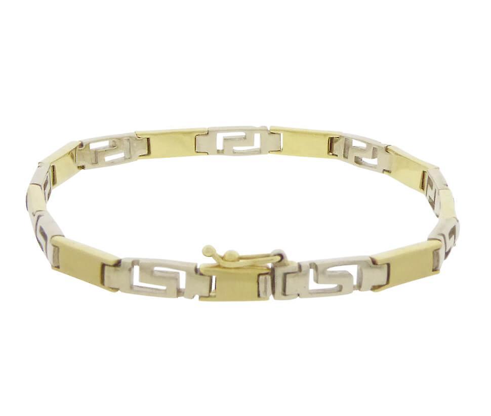 Gouden bicolor schakelarmband