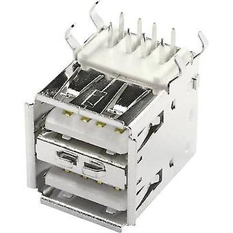 Montert socket USB-A print 2xUSB Socket, horisontal montering USBBU2A 2 porter econ koble innhold: 1 eller flere PCer