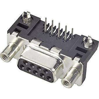 FCI D-SUB D09S13A4GL00LF D-SUB Buchsen 90 ° Anzahl der Pins: 9 Print 1 pc(s)
