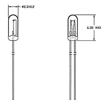 21614500 lamp voor speciale doeleinden Clear T3/4 WT 14 V 50 mA