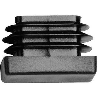 PB Fastener 057 6020 699 03 Round ribbed tube end caps Board thickness (max.) 14.5 mm Polyethylene (PE) Black 1 pc(s)