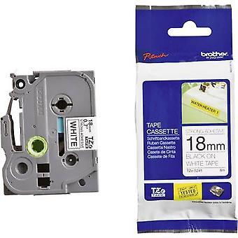 Merking tape (ekstra sterk lim) bror TZe, TZ TZe-S241 Tape farge: hvit skrift farge: svart 18 mm 8 m