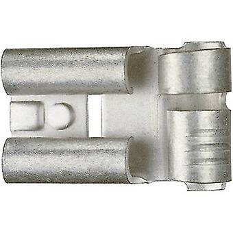 Receptáculo Klauke 3725 lâmina largura do conector: 6,3 mm conector espessura: 0.8 mm 90 ° não isolada o Metal 1 computador (es)