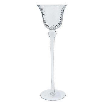 Clayre & Eef Teelichterhalter Teelicht hohes Windlicht aus Glas Ø 9x30cm