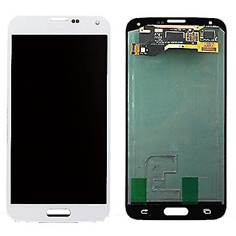 LCD Display & Touch Screen Digitizer Assembly Replacement for Samsung Galaxy S5 (White)