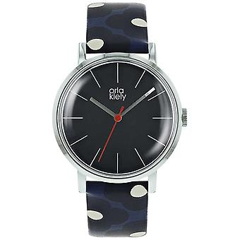 Orla Kiely Womens Patricia Marine foncé et encre impression sangle OK2199 Watch