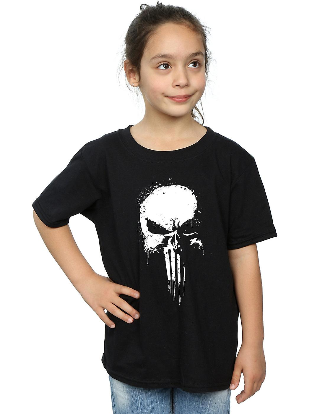 Marvel Girls The Punisher Spray Skull T-Shirt