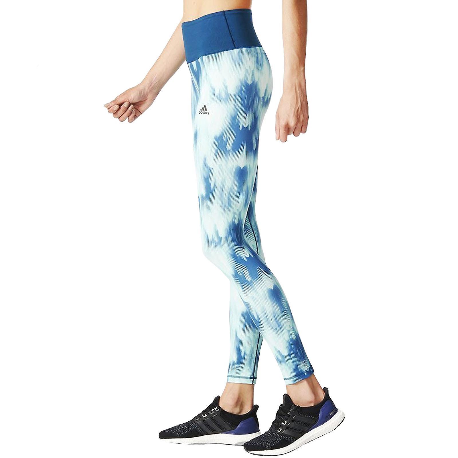 adidas Performance Womens High Rise AOP Running Sports Tight