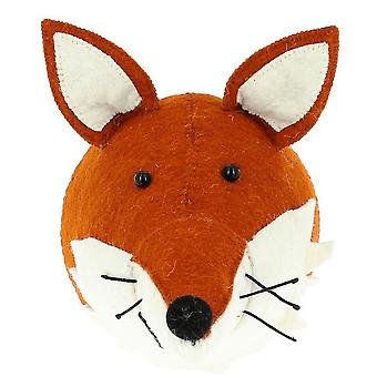 Fiona Walker England Fox With Ruff Felt Animal Head, Wall Mounted