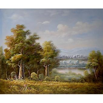 Landscape, oil painting on canvas, 50x60 cm