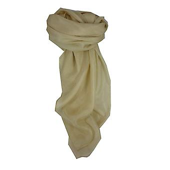 Mulberry Silk Hand Dyed Square Scarf Ecru from Pashmina & Silk