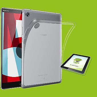 Voor Huawei MediaPad M5 10,8 en 10,8 per transparant case pouch cover case + HD LCD film