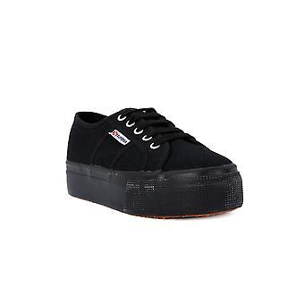 Superga cotu volledig zwart op en neer fashion sneakers