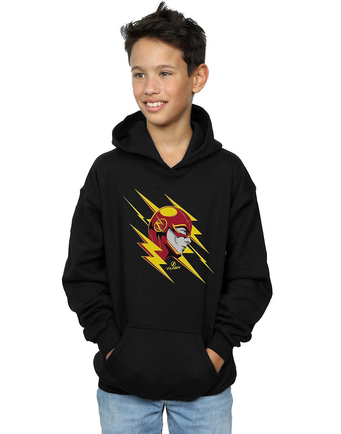 DC Comics Boys The Flash Lightning Portrait Hoodie
