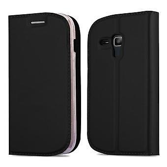 Cadorabo Hülle für Samsung Galaxy S3 MINI Case Cover - Handyhülle mit Magnetverschluss, Standfunktion und Kartenfach – Case Cover Schutzhülle Etui Tasche Book Klapp Style