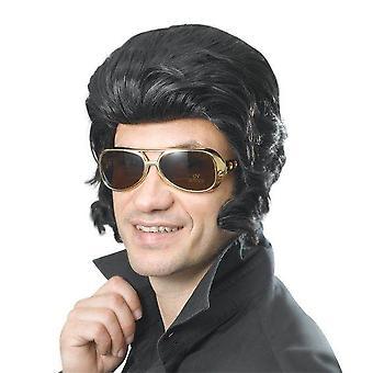 Elvis Wig & Big Sideburns.