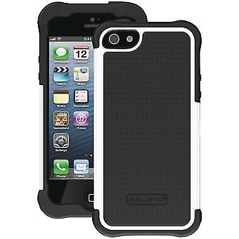 Ballistic Shell Gel Case for Apple iPhone 5 (Black/White)
