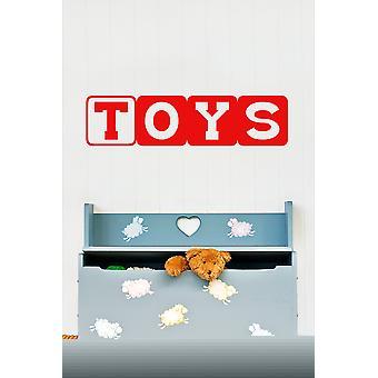 Toys Wall Sticker Block Letters Wall Sticker