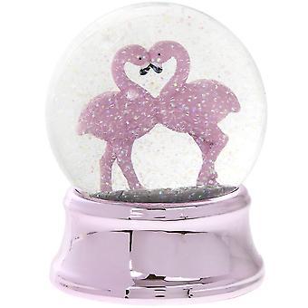 Johti vaaleanpunainen Flamingo lasi Vesipallo Ornamentti Sisustustarvikkeet