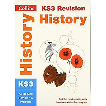 KS3 Historia: revisión de All-in-One y la práctica (Collins KS3 revisión y práctica - nuevo plan de estudios de 2014)
