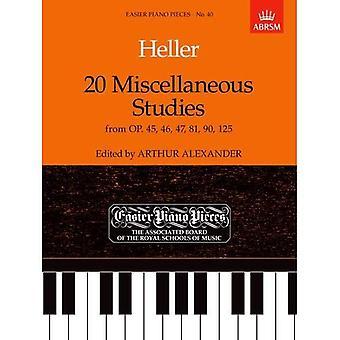 20 różne badania z Op.45, 46, 47, 81, 90 & 125: łatwiejsze fortepian sztuk 40 (łatwiejsze utworów fortepianowych (ABRSM))