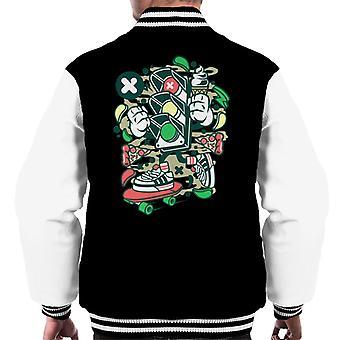 Ampel Mann Pizza Männer Varsity Jacket