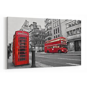 Large A1 A2 A3 Panel London Canvas Black White Red Panoramic Wall Art Painting for your Living Room Prints - Pictures