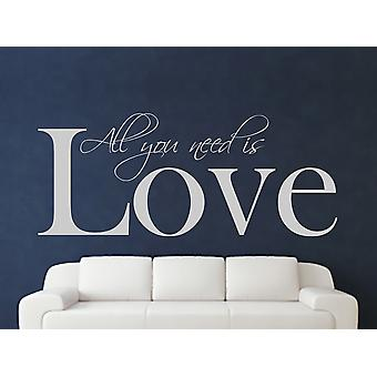 All You Need Wall Sticker Art - Gris