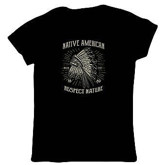 Native American naisten T-paita-Pop Culture Gift Her