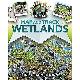 Karta och spår våtmarker (karta och spår biom och djur)