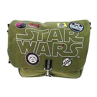 Children's Star Wars Patches Canvas Messenger Bag