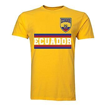Ecuador core voetbal land T-shirt (geel)