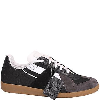 Maison Margiela Replica Suede And Leather Sneakers Multi