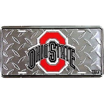 "Ohio State Buckeyes NCAA ""Diamond"" License Plate"