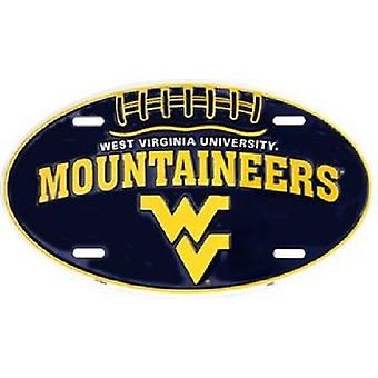 West Virginia alpinistes NCAA plaque d'immatriculation ovale