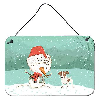 Jack Russell Terrier #2 Snowman Christmas Wall or Door Hanging Prints