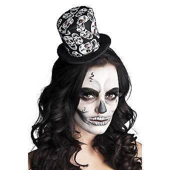 Womens Mini Skull Hat Halloween Accessory