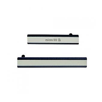 Black Sony Xperia Z2 Card Cap - 2 Piece Set