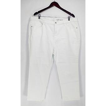 Denim & Co. vrouwen ' s Petite jeans 20wp Classic denim verdrietig wit A304477