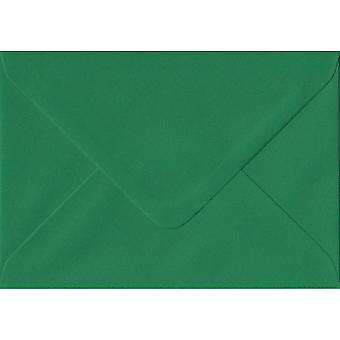 Xmas Green Gummed Gift/Place Card Coloured Green Envelopes. 100gsm FSC Sustainable Paper. 70mm x 110mm. Banker Style Envelope.