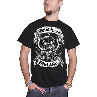Motorhead T Shirt Warpig Crossed Swords England Crest Official Mens New Black