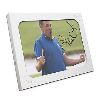 Ian Poulter podpisane zdjęcie: Ryder Cup 2018 w pudełku prezentowym