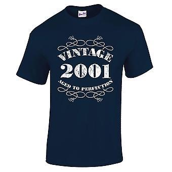 Mannen ' s 18e verjaardag T-Shirt Vintage 2001 nieuwigheid giften voor hem