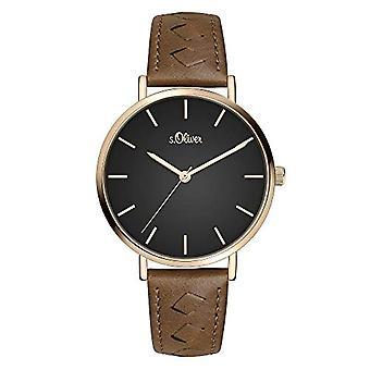 s. Oliver Quartz naisten analoginen kello SO-3844-LQ nahkavyö