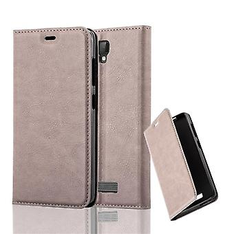 Cadorabo Case for ZTE BLADE L5 PLUS Case Cover - Phone Case with Magnetic Closure, Stand Function and Card Case Compartment - Case Cover Case Case Case Case Book Folding Style